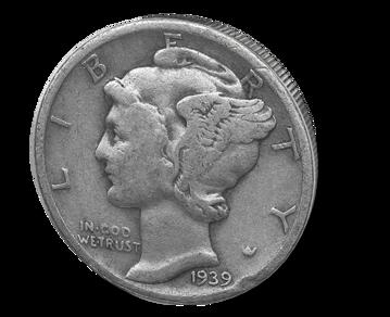 Picture of 90% Junk Silver $1 Face Value Mercury Dimes