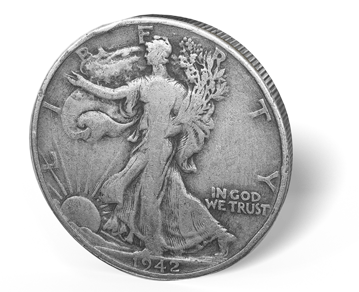 Picture of 90% Junk Silver $1 Face Value Walker Halves