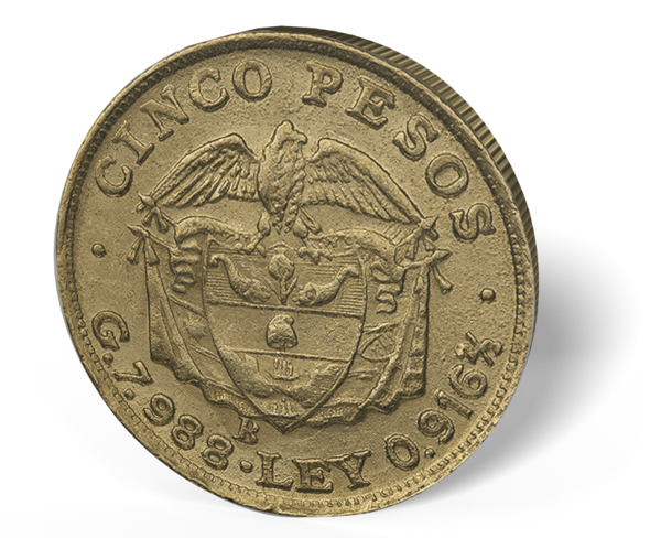 Picture of Colombia Gold 5 Peso