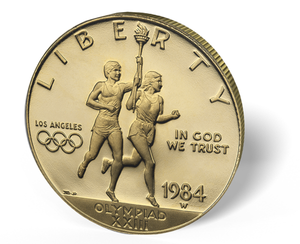 Picture of $10 US Gold Bullion Olympic Coin