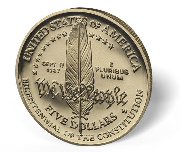 Picture of $5 US Gold Bullion Modern Commemorative Coin