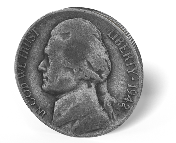 Picture of 1 Piece War Nickle