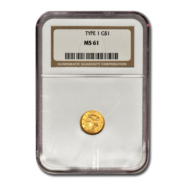 Picture of $1 Gold Coins Type 1 MS61
