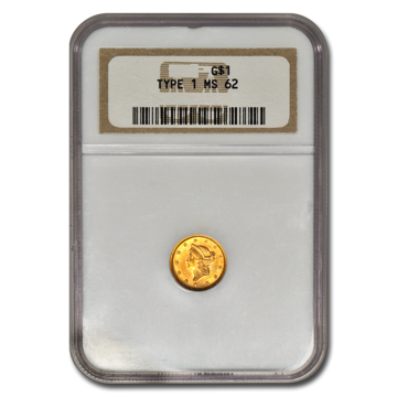 Picture of $1 Gold Coins Type 1 MS62