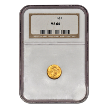 Picture of $1 Gold Coins Type 1 MS64