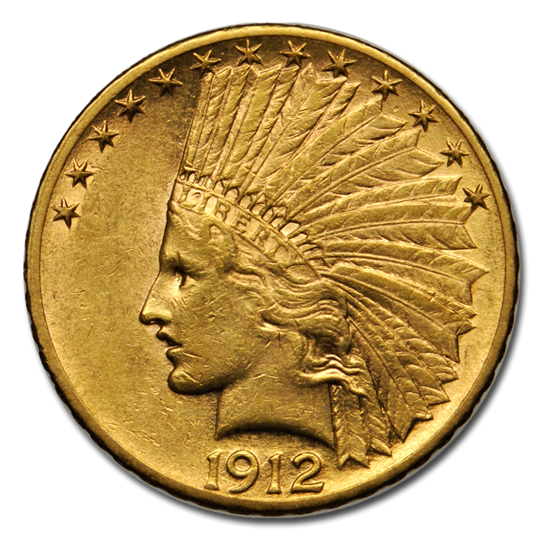 Picture of $10 Indian Head Gold Coins XF