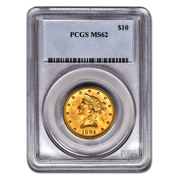 Picture of $10 Liberty Gold Coins MS 62