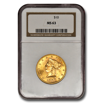 Picture of $10 Liberty Gold Coins MS 63
