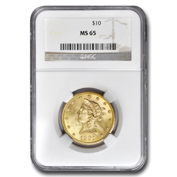 Picture of $10 Liberty Gold Coins MS 65