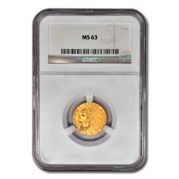 Picture of $2.5 Indian Head Gold Coins MS 63