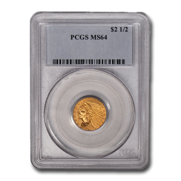 Picture of $2.5 Indian Head Gold Coins MS 64
