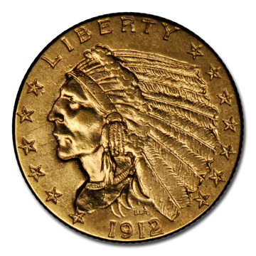 Picture of $2.5 Indian Head Gold Coins XF