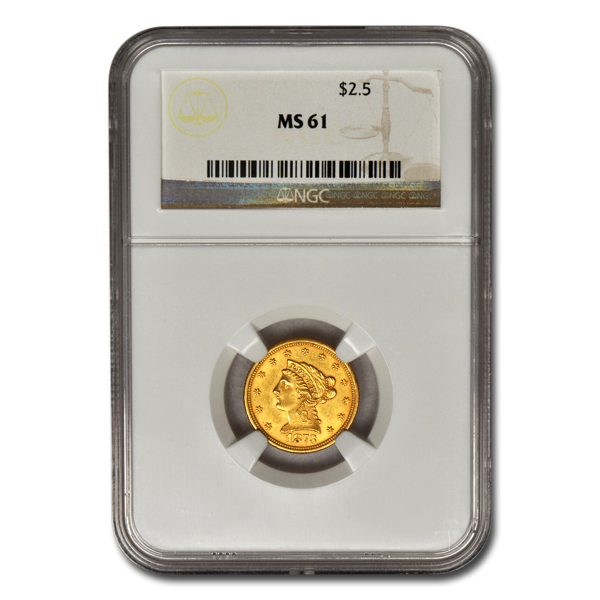 Picture of $2.5 Liberty Gold Coins MS 61