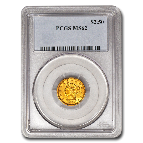 Picture of $2.5 Liberty Gold Coins MS 62