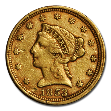 Picture of $2.5 Liberty Gold Coins XF
