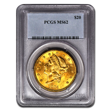 Picture of $20 Liberty Gold Coins MS 62