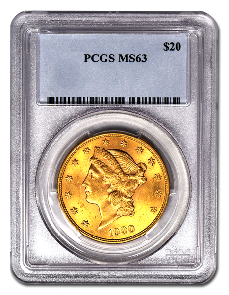 Picture of $20 Liberty Gold Coins MS 63*
