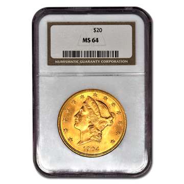 Picture of $20 Liberty Gold Coins MS 64*