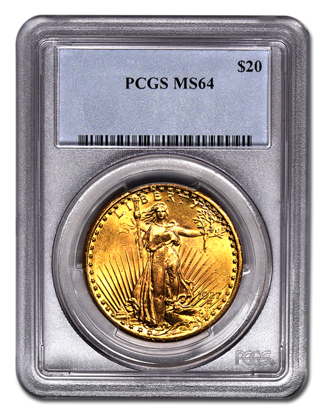 Picture of $20 Saint-Gaudens Gold Coins MS 64