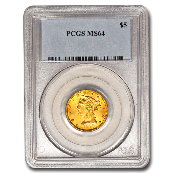 Picture of $5 Liberty Gold Coins MS 64