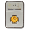 Picture of $5 Liberty Gold Coins MS 65