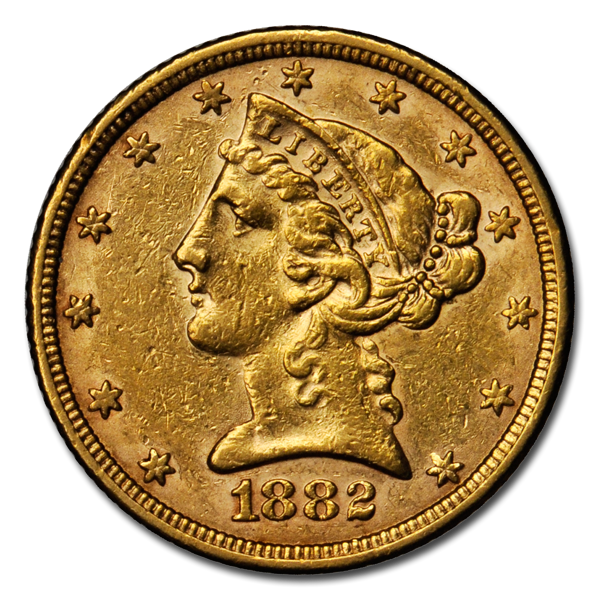 Picture of $5 Liberty Gold Coins XF