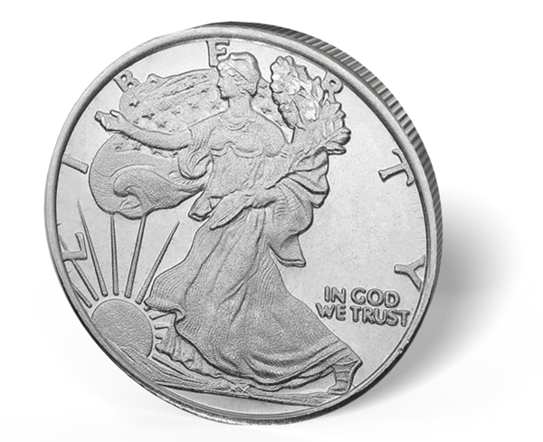 Picture of 1/2 oz Walking Liberty Silver Rounds Fractional