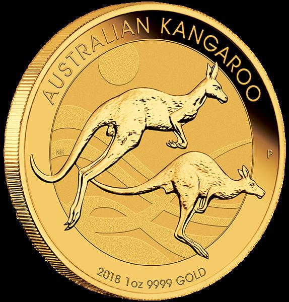 Picture of 2018 1 oz Perth Gold Kangaroo