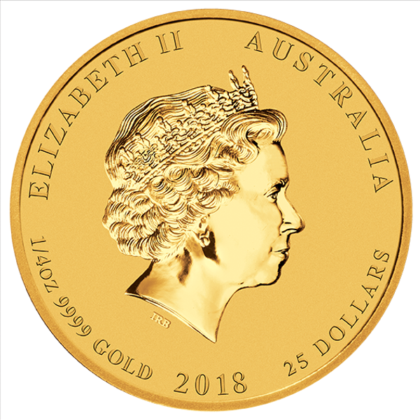 Picture of 2018 1/4 oz Perth Gold Dog