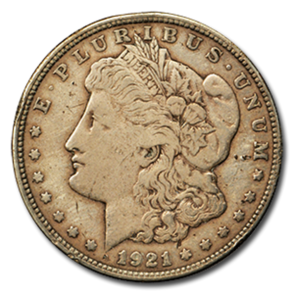Picture of 1921 Morgan Silver Dollar (VG-EF)