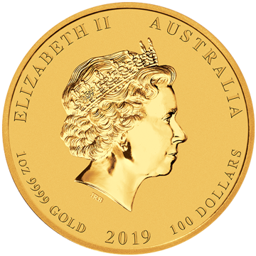 Picture of 2019 1 oz Perth Mint Gold Pig