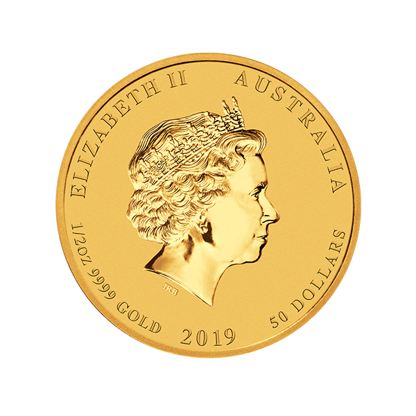 Picture of 2019 1/2 oz Perth Mint Gold Pig