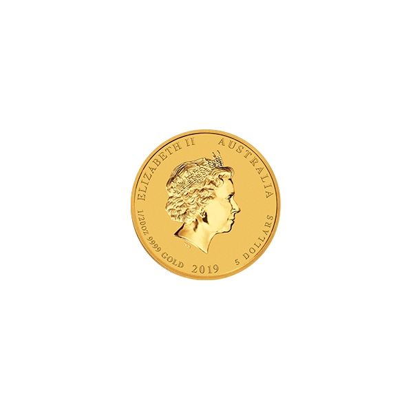 Picture of 2019 1/20 oz Perth Mint Gold Pig
