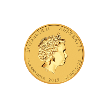 Picture of 2019 1/4 oz Perth Mint Gold Pig