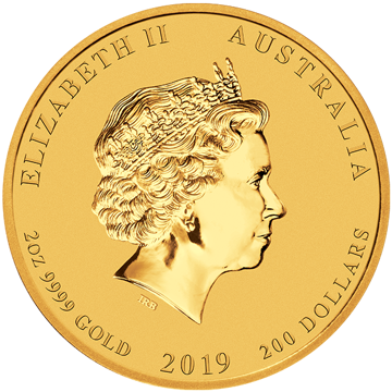 Picture of 2019 2 oz Perth Mint Gold Pig