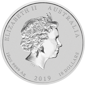 Picture of 2019 10 oz Australian Silver Pig
