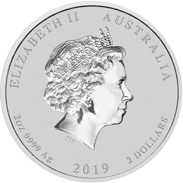Picture of 2019 2 oz Australian Silver Pig
