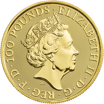 Picture of 2019 1 oz Gold Queens Beast Falcon