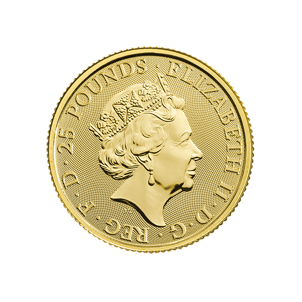 Picture of 2019 1/4 oz Gold Queens Beast Falcon