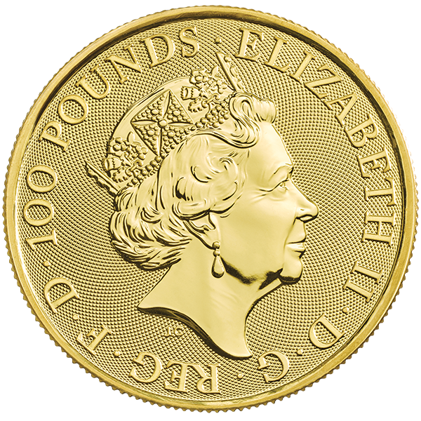 Picture of 2020 1 oz British Gold Queens Beast White Lion Of Mortimer