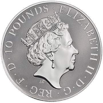 Picture of 2020 10 oz British Silver Queens Beast Falcon