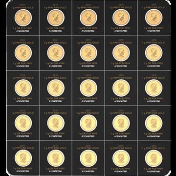 Picture of 2020 25 Gram Gold Maplegram