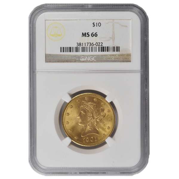 Picture of 1880S $10 Liberty Gold Coin MS66