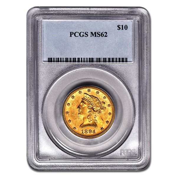 Picture of 1907D $10 Liberty Gold Coin MS62