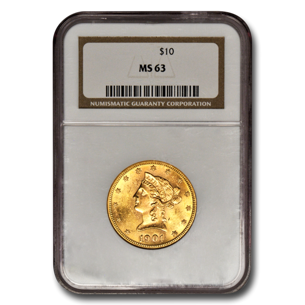 Picture of 1907D $10 Liberty Gold Coin MS63