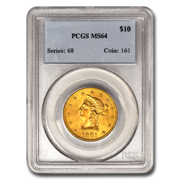 Picture of 1907D $10 Liberty Gold Coin MS64