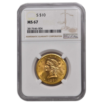 Picture of 1907S $10 Liberty Gold Coin MS67