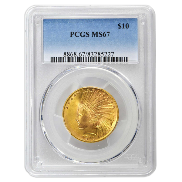 Picture of 1908NM $10 Indian Gold Coin MS67