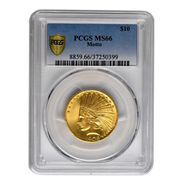 Picture of 1909D $10 Indian Gold Coin MS66