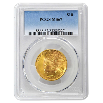Picture of 1915 $10 Indian Gold Coin MS67